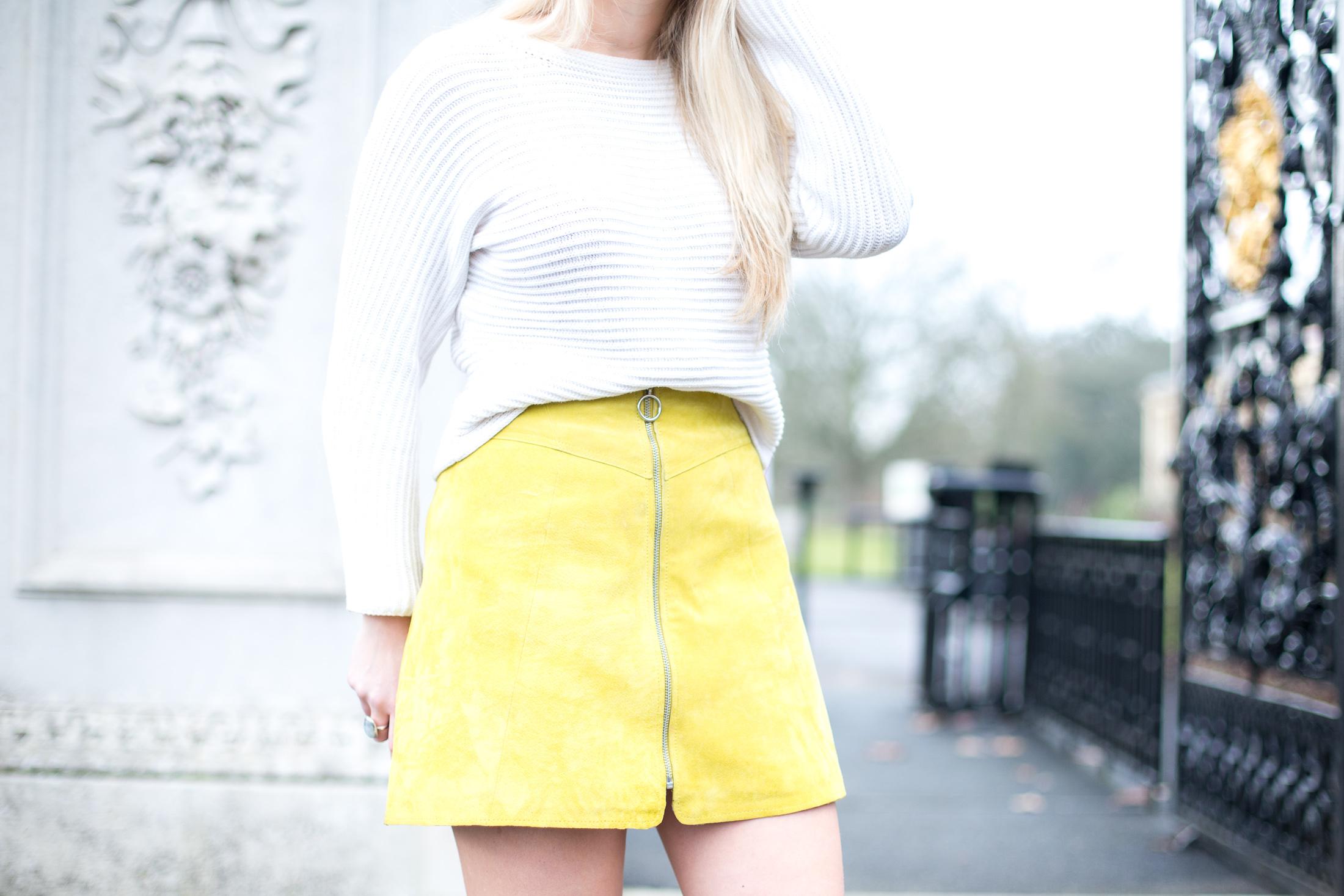 ASOS Suede Skirt