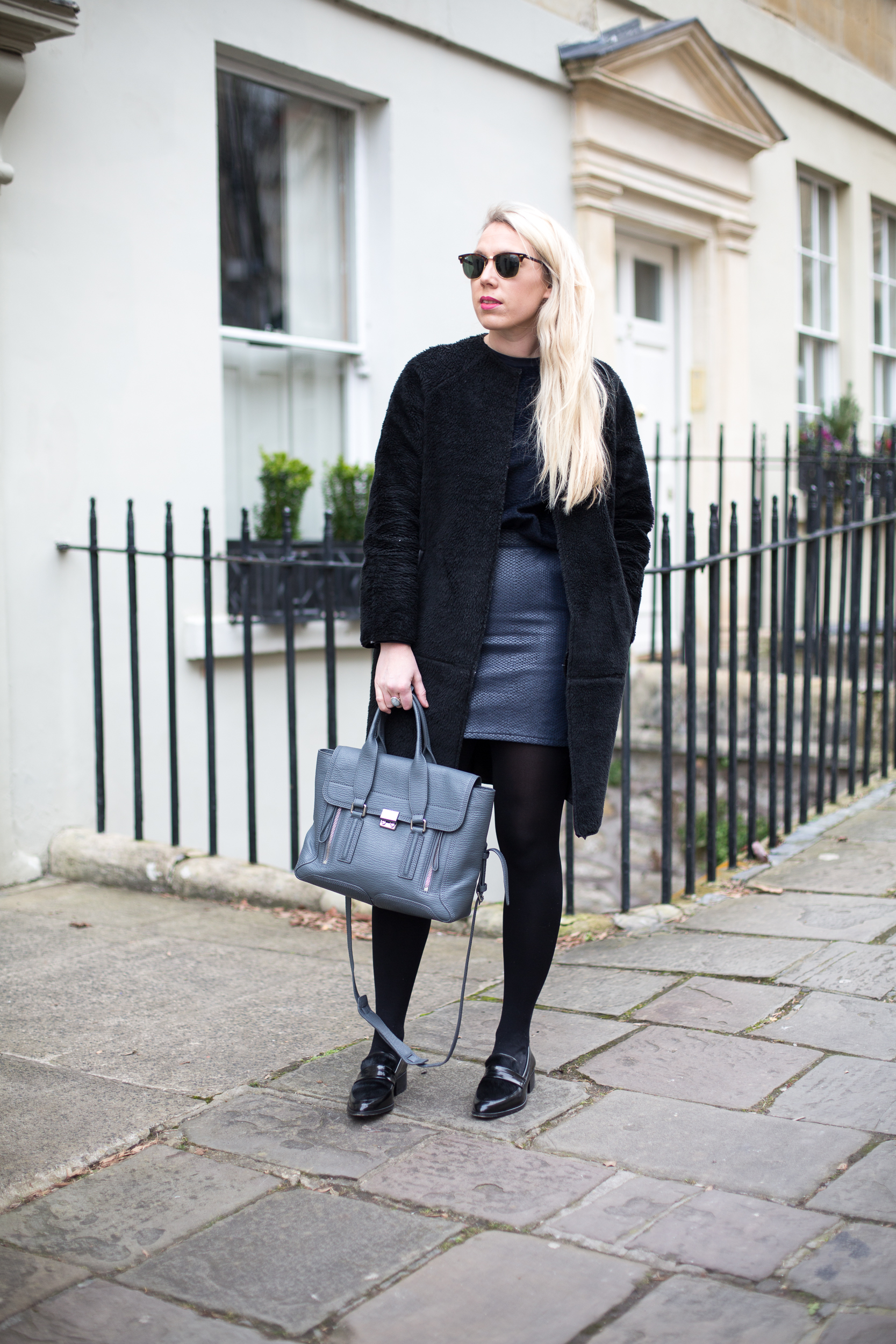 TOPSHOP LEATHER SKIRT