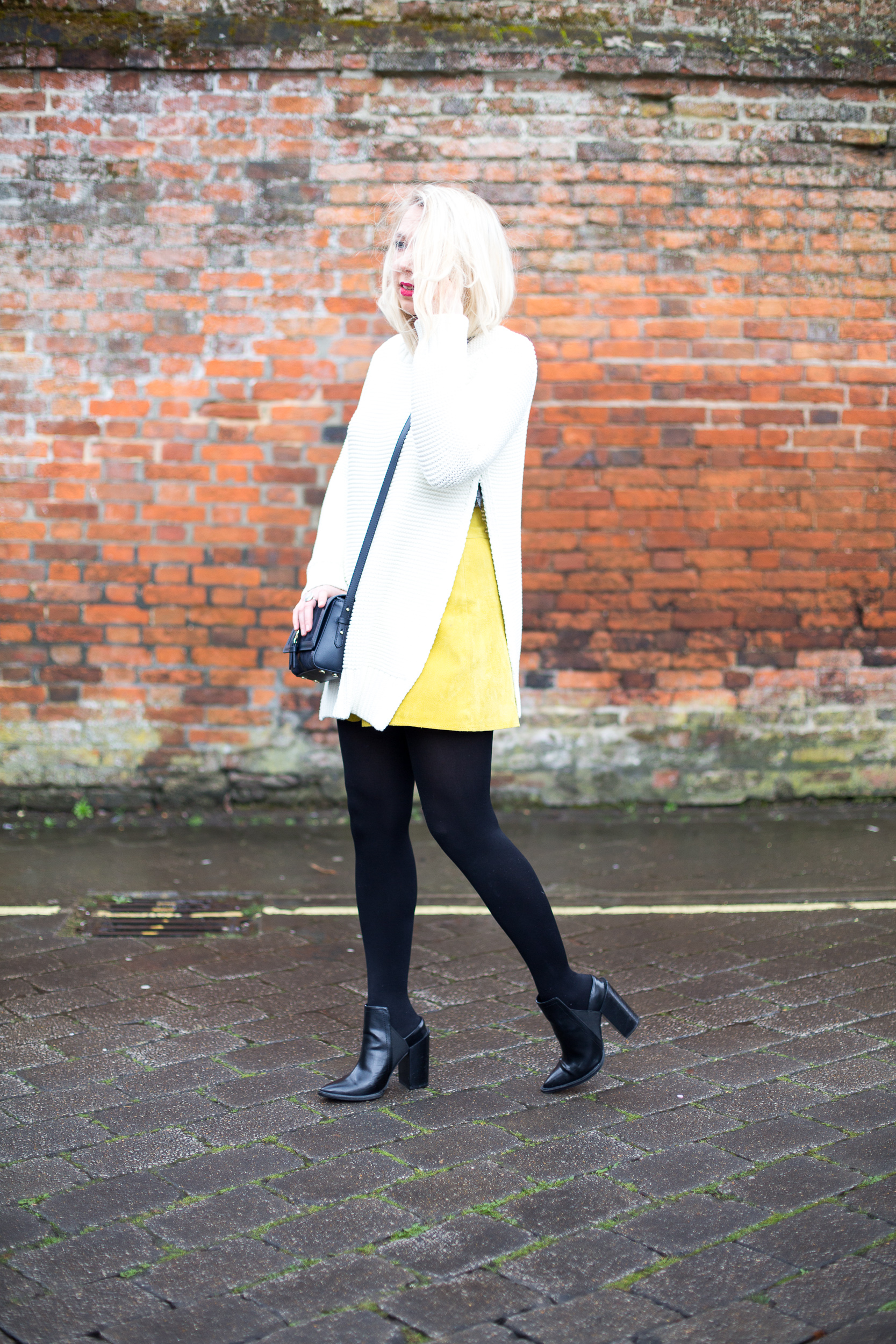 Yellow Suede Skirt