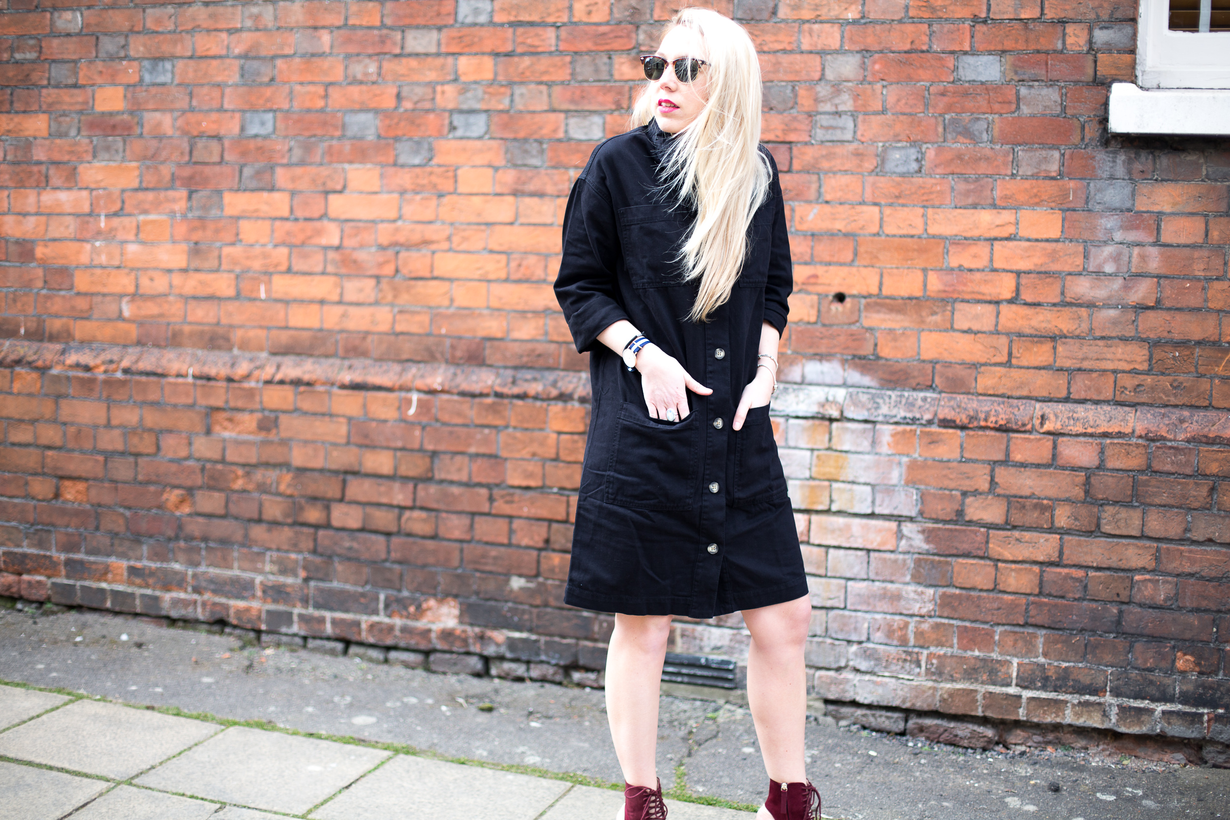 Black Denim Shirt Dress