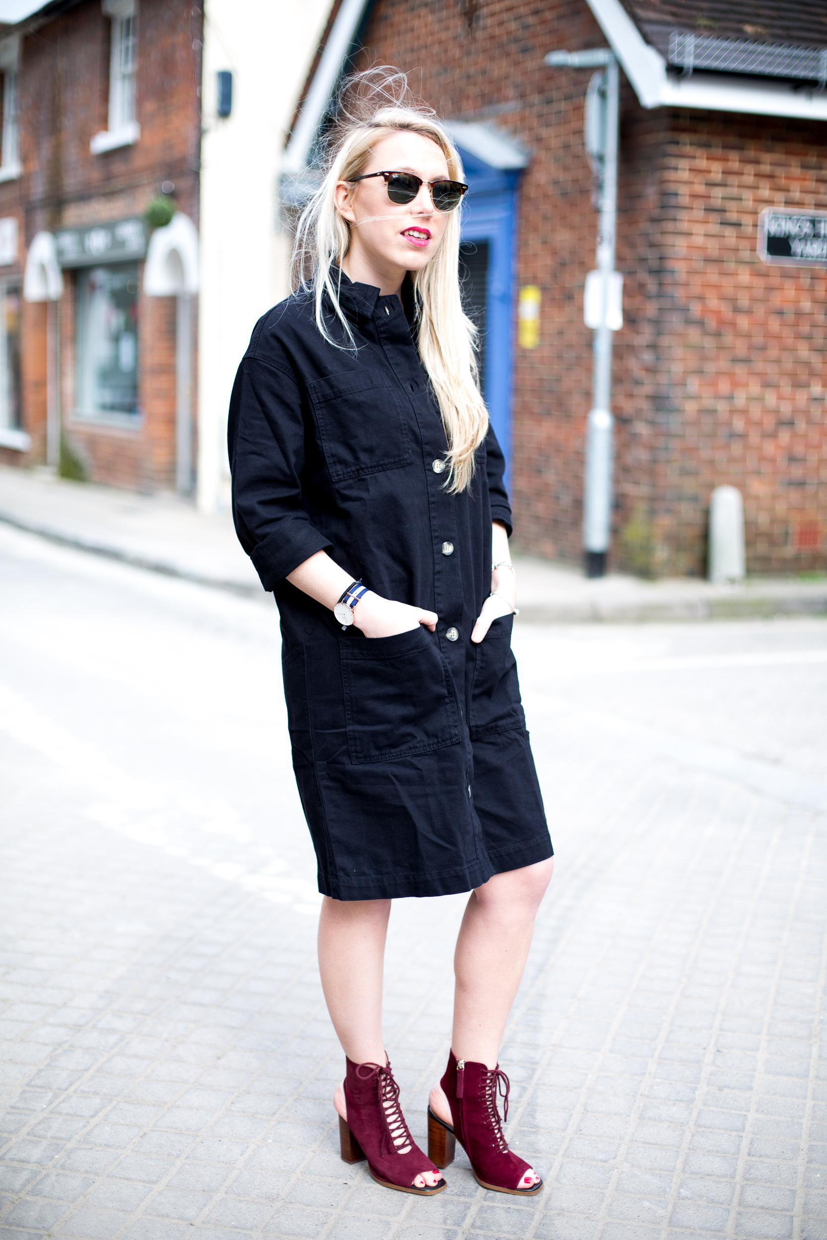 Black dress jean shirt -  Black Denim Shirt Dress