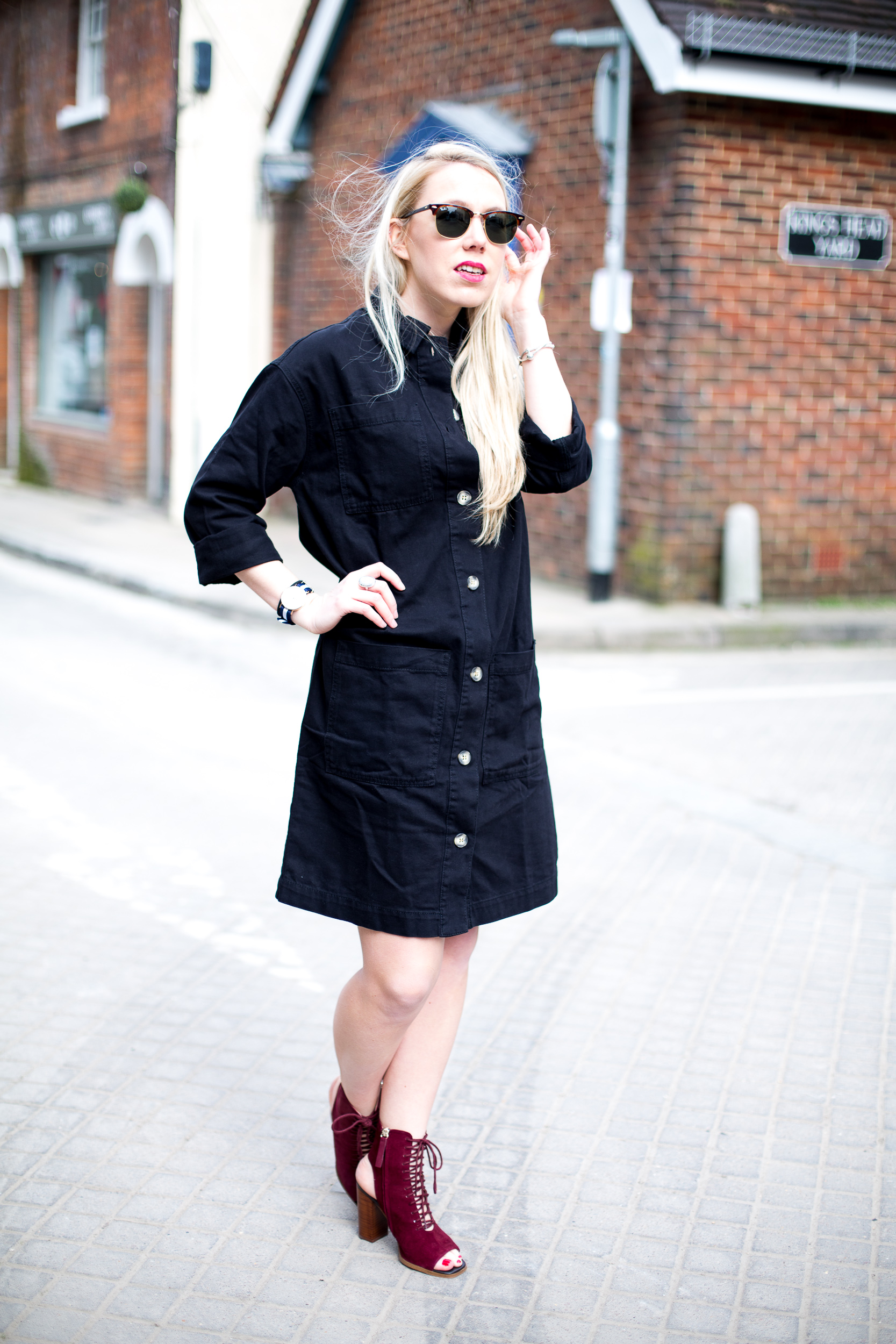 Black dress jean shirt - Denim Shirt With Black Dress