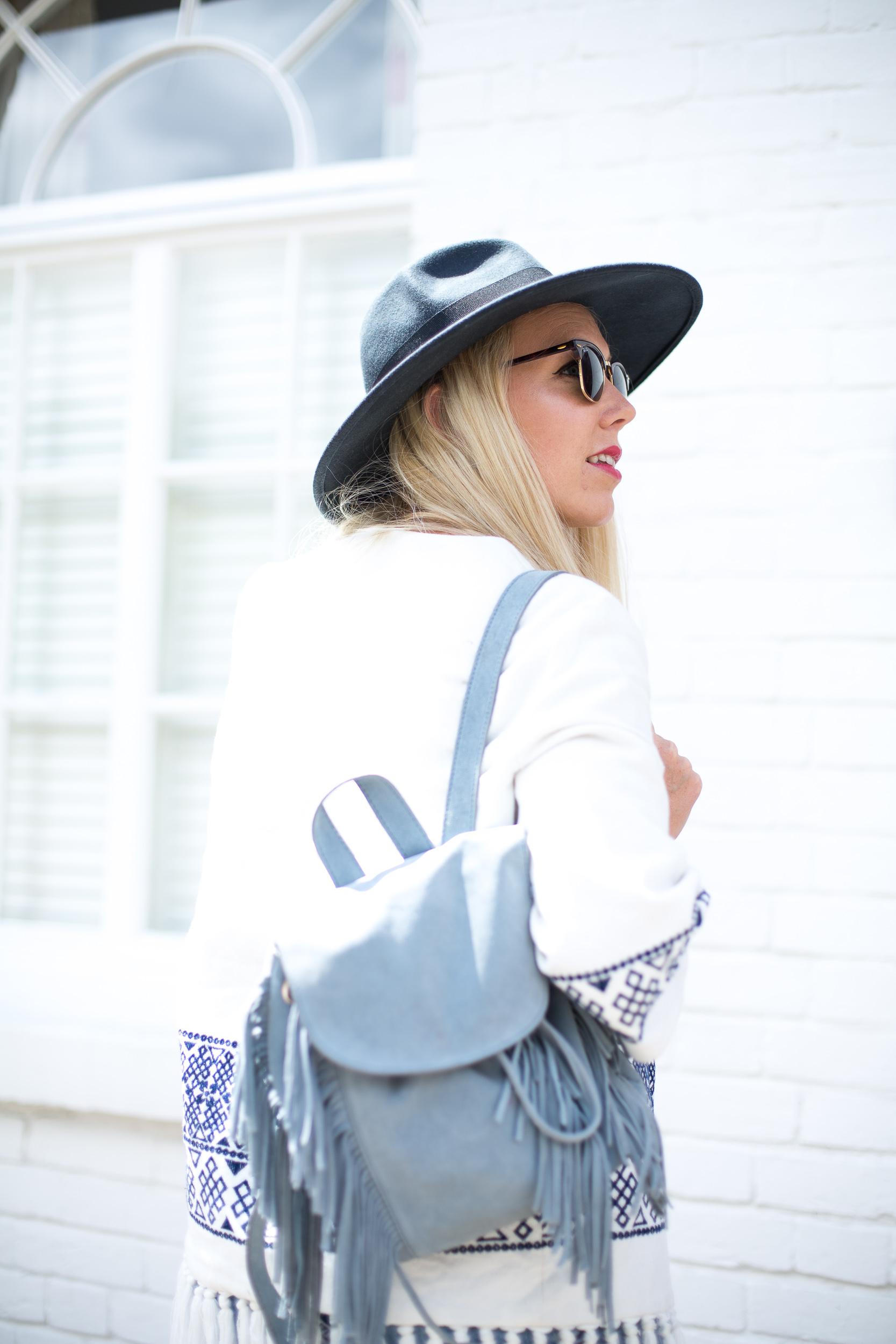 Mediamarmalade Kimono and Denim Shorts