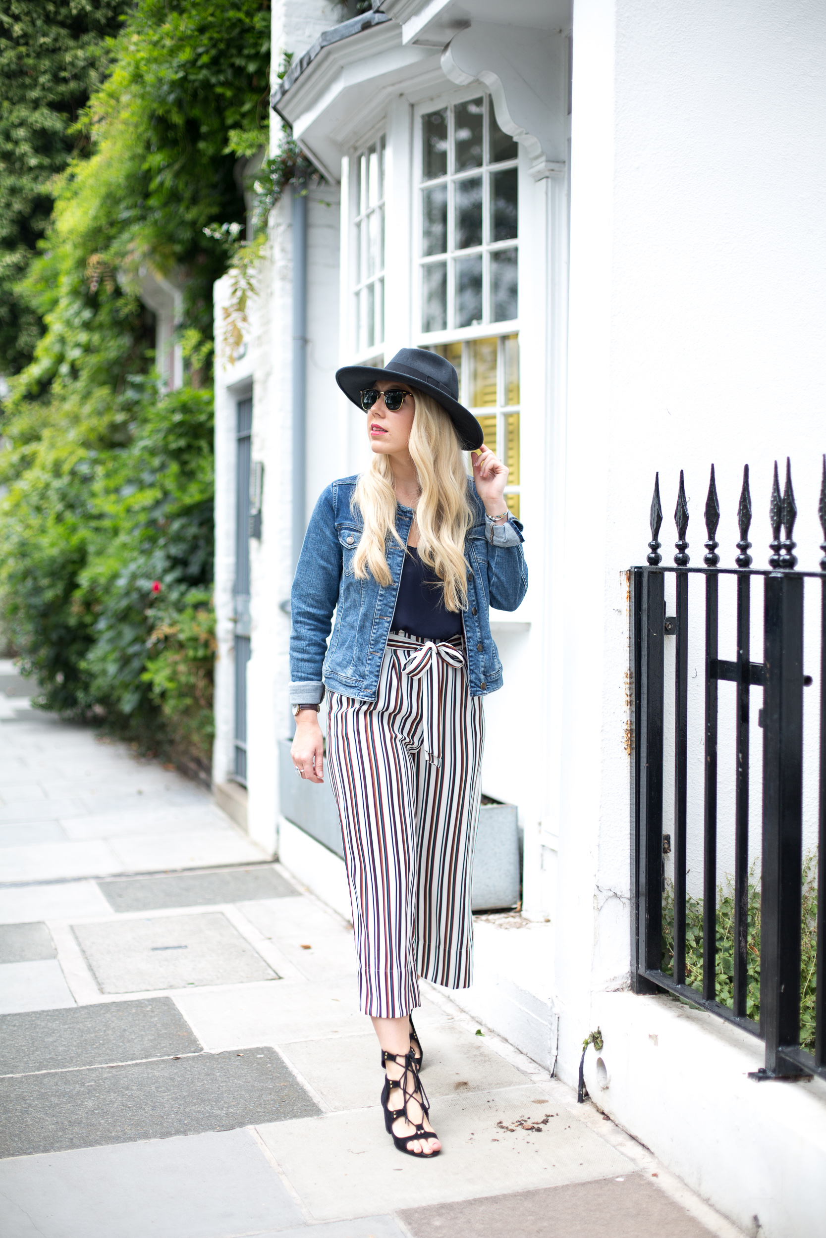 Mediamarmalade Striped Cropped Trousers