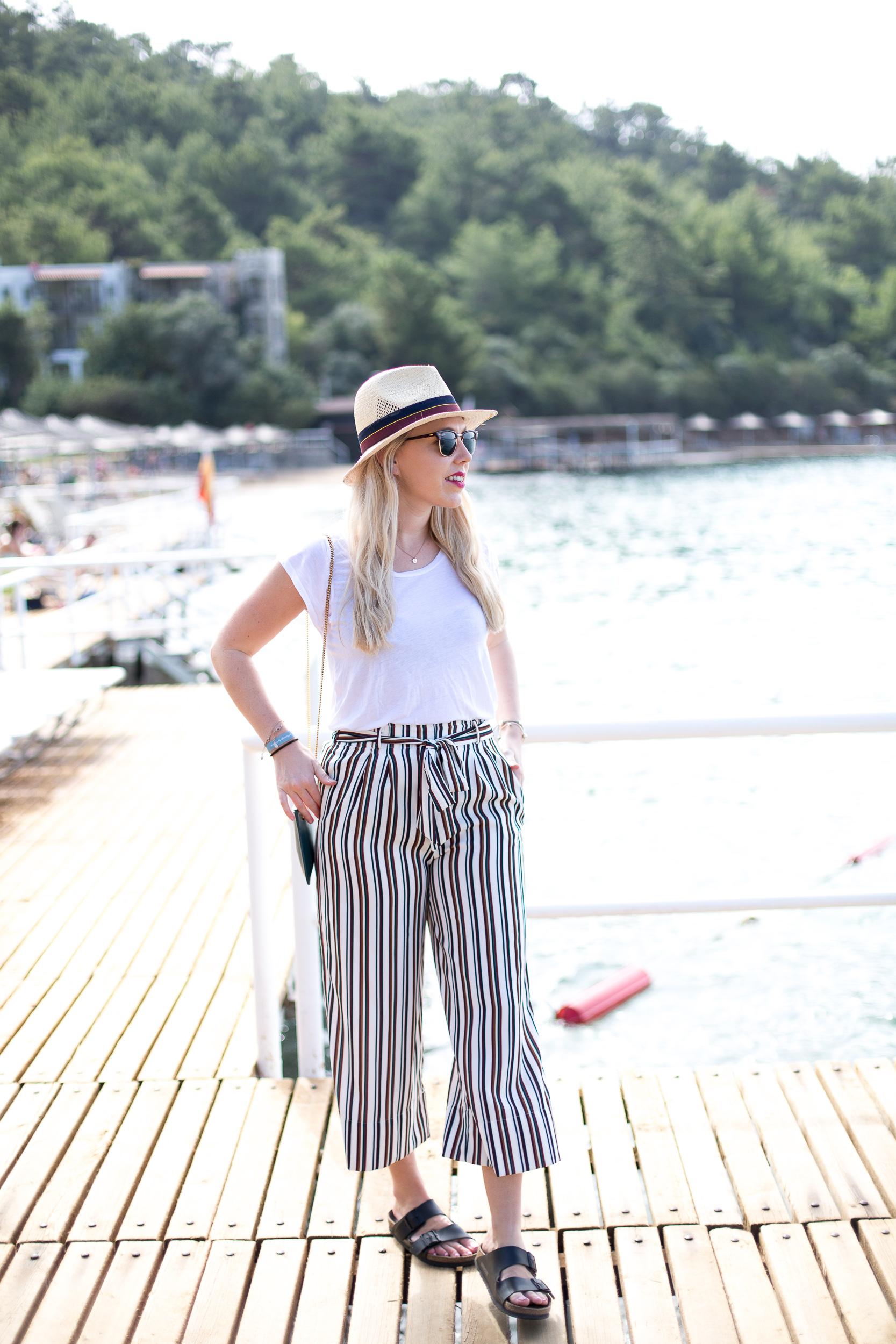 Mediamarmalade Striped Culottes